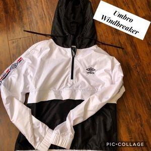 Umbro White & Black Windbreaker Jacket